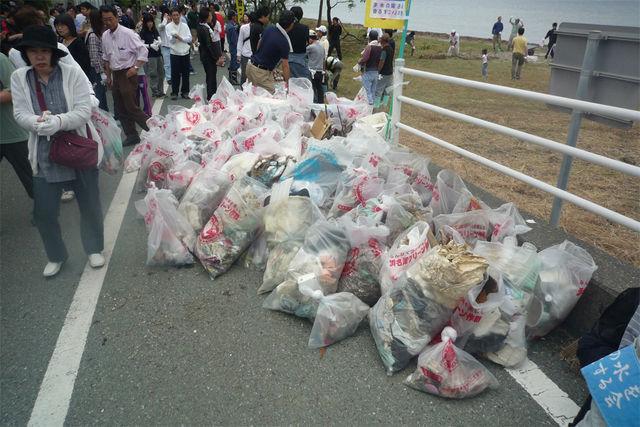 わずか1時間でこれだけのゴミが集まりました