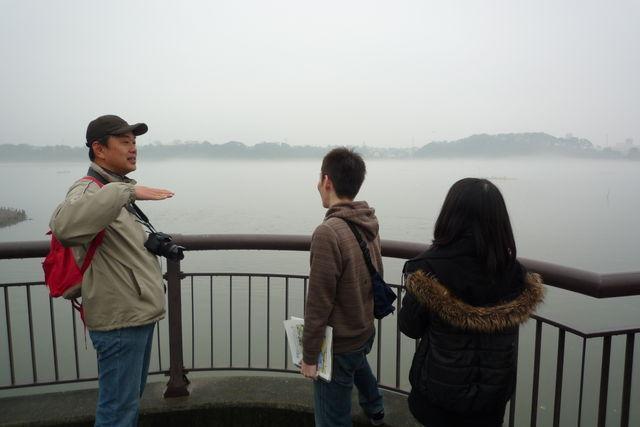 佐鳴湖の水の流れを説明して頂きました