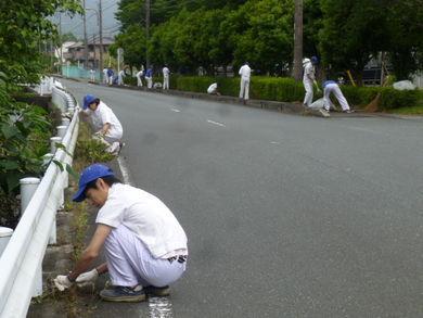 本社/細江工場/技術研究所/生産技術センター 団地周辺清掃の様子
