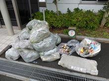 ゴミも雑草もたくさん回収できました☆