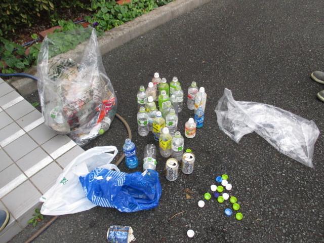 飲料系のゴミが多かったです