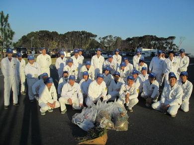 工場長筆頭に浜北工場36名の地域貢献成果です!