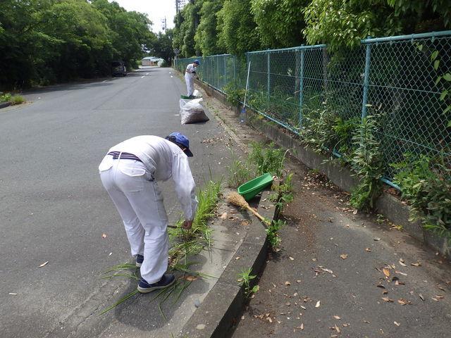【浜北工場第二製造課】周辺道路の草取りやゴミ・落ち葉拾いをしました